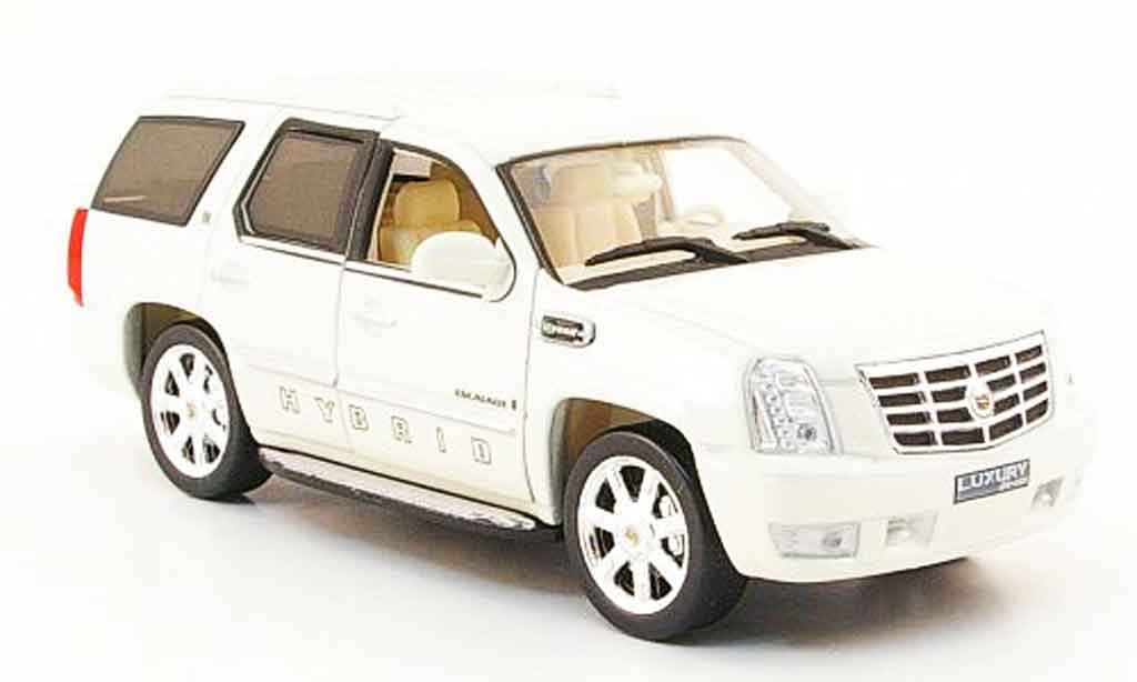 cadillac escalade hybrid weiss 2009 2010 luxury die cast. Black Bedroom Furniture Sets. Home Design Ideas