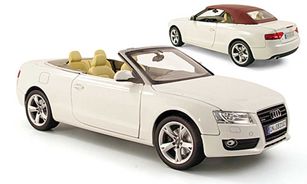 audi a5 miniature cabriolet blanche 2009 norev 1 18. Black Bedroom Furniture Sets. Home Design Ideas