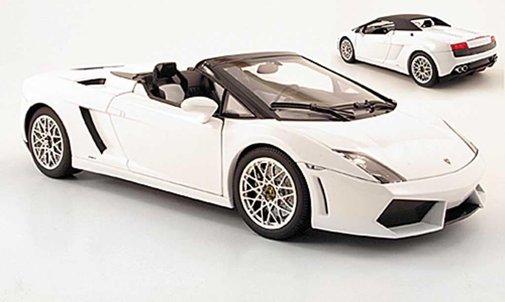 Lamborghini Gallardo LP560-4 LP560-4 1/18 Norev spyder blanche 2009 miniature
