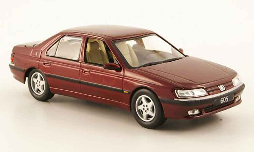 Peugeot 605 1/43 Norev rouge 1998 miniature
