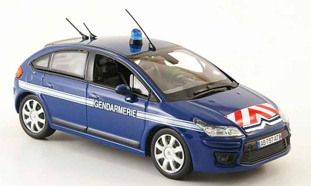 citroen c4 miniature gendarmerie police 2008 norev 1 43 voiture. Black Bedroom Furniture Sets. Home Design Ideas