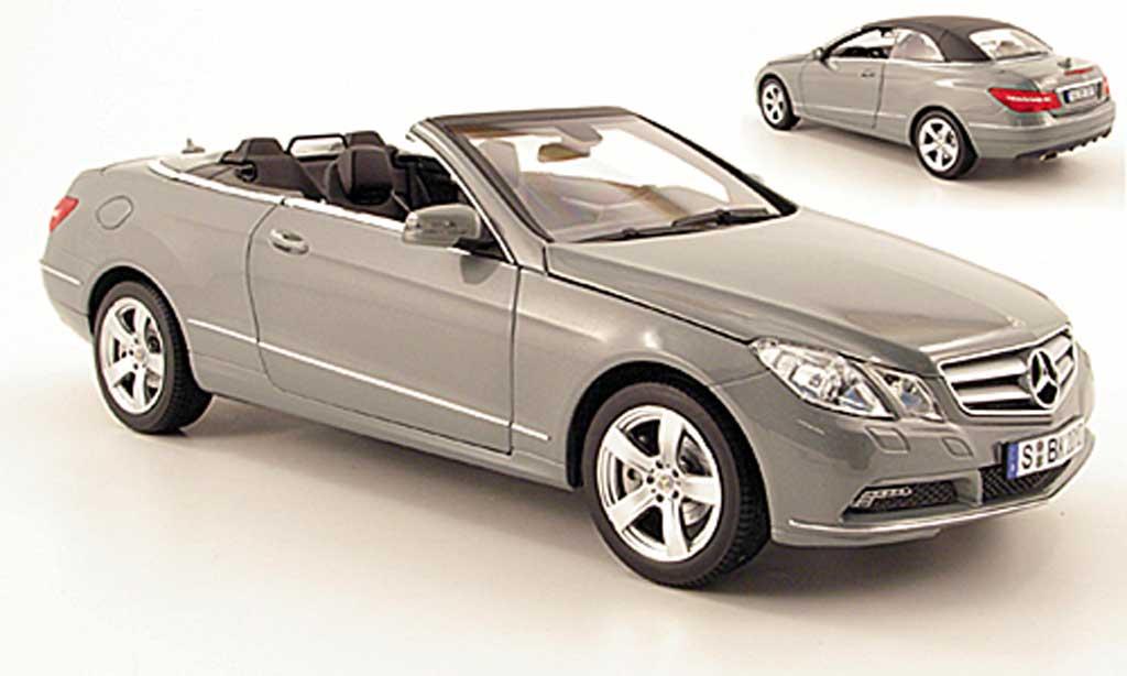 Mercedes Classe E 1/18 Norev e500 cabriolet (a207) grise 2010 miniature