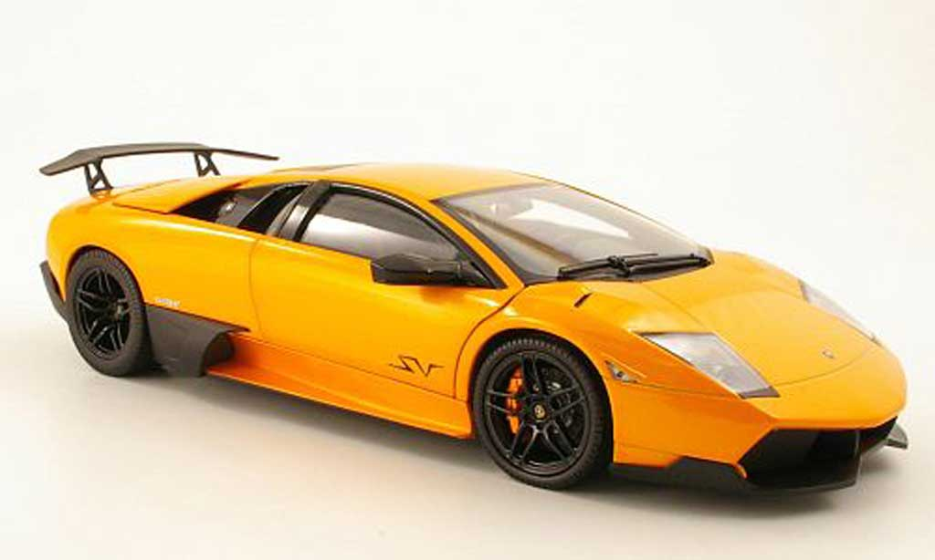 Lamborghini Murcielago LP670 1/18 Norev 4 SV orange 2009 miniature