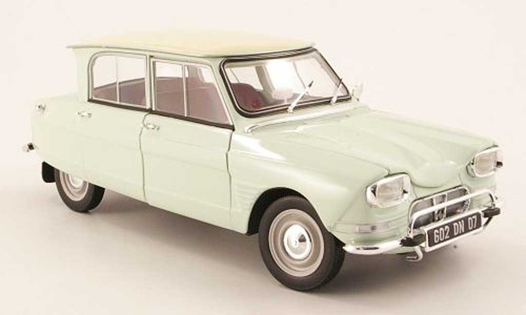 citroen ami 6 miniature verte pastel beige 1963 norev 1 18 voiture. Black Bedroom Furniture Sets. Home Design Ideas