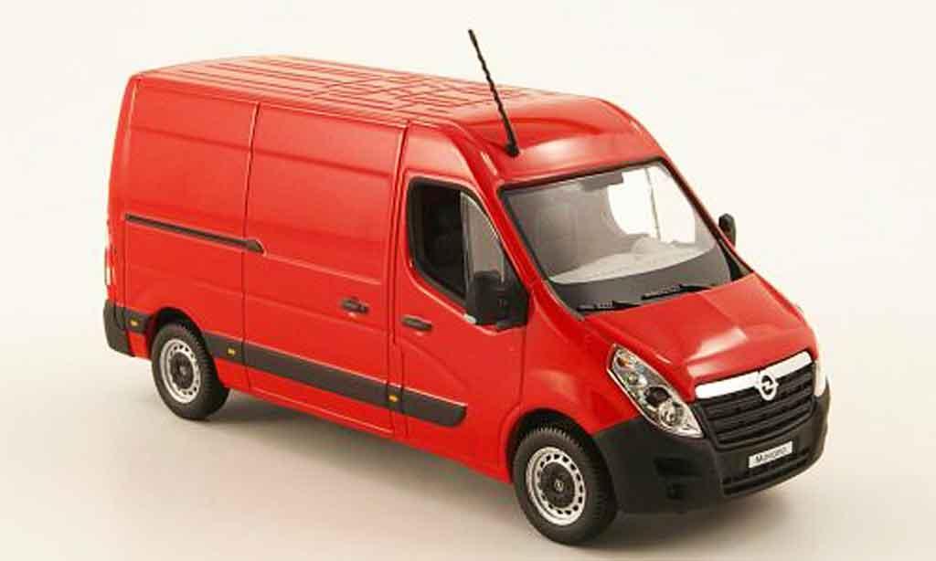 Opel Movano 1/43 Norev kasten rouge 2010 miniature