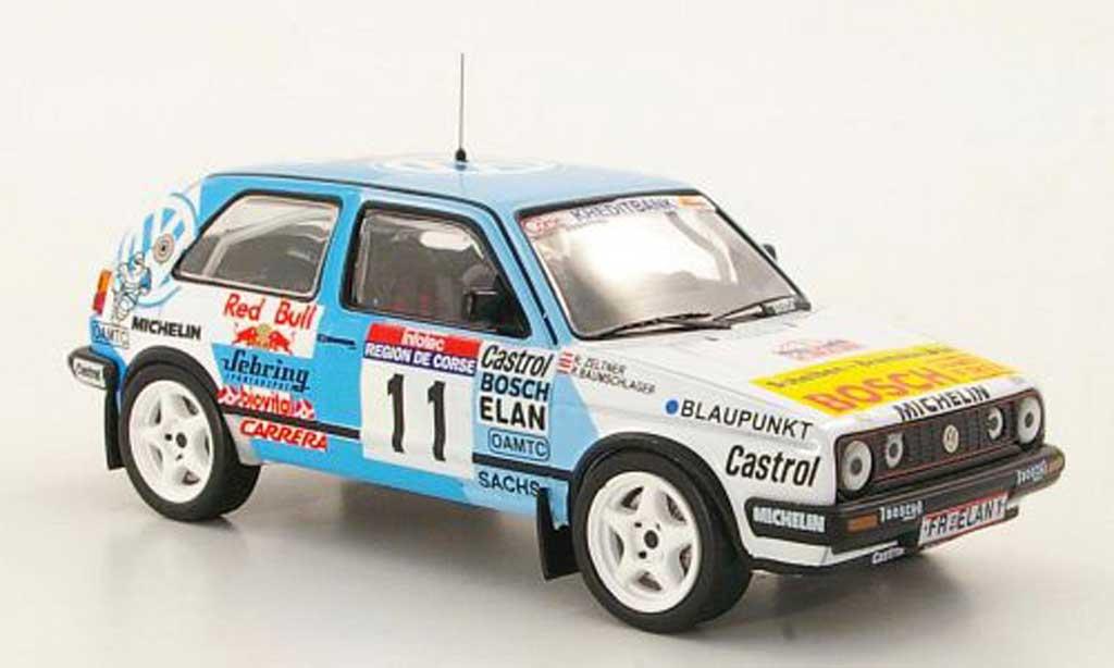 Volkswagen Golf 2 GTI 1/43 IXO 16V No.11 R.Baumschlager / R.Zeltner Tour de Corse 1990 diecast model cars
