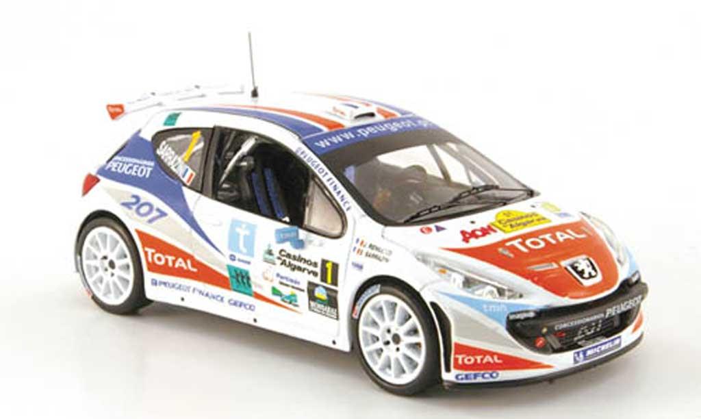 Peugeot 207 S2000 1/43 IXO No.1 Sarrazin/Renucci Rally Algarve 2007 miniature