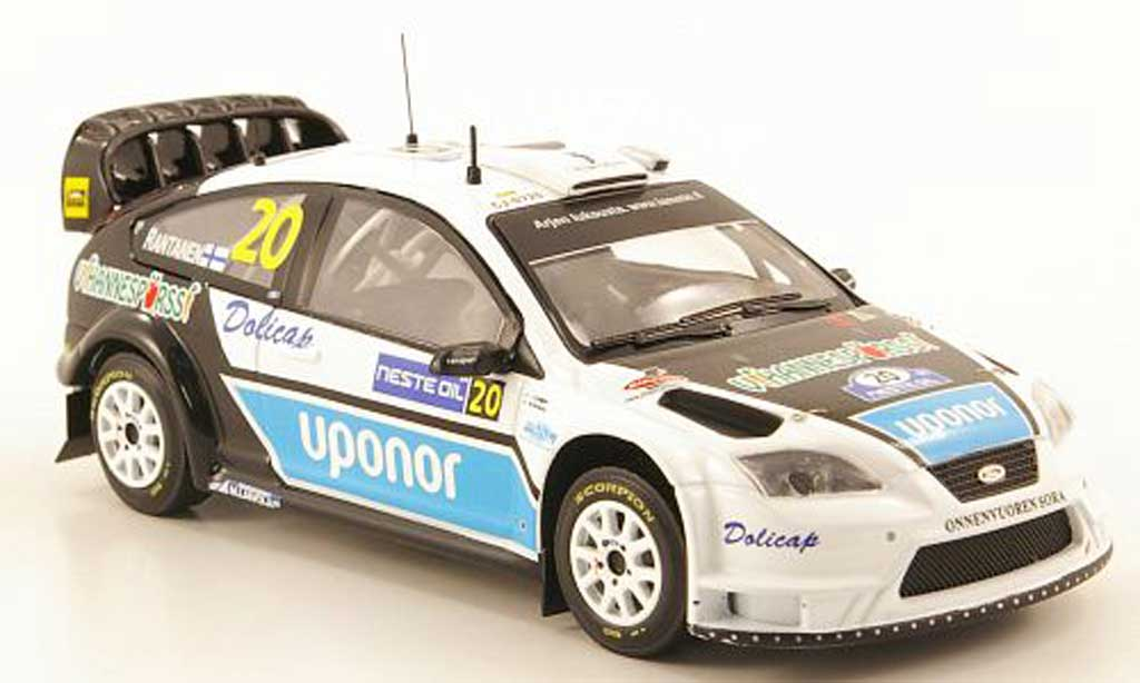 Ford Focus RS WRC 1/43 IXO No.20 Uponor Rally Finnland 2008 miniature