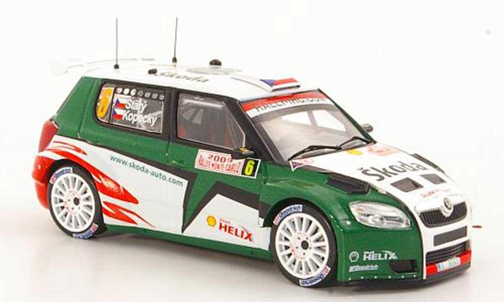 Skoda Fabia S2000 1/43 IXO No.6 J.Kopecky / P.Stary Rally Monte Carlo 2009 miniature