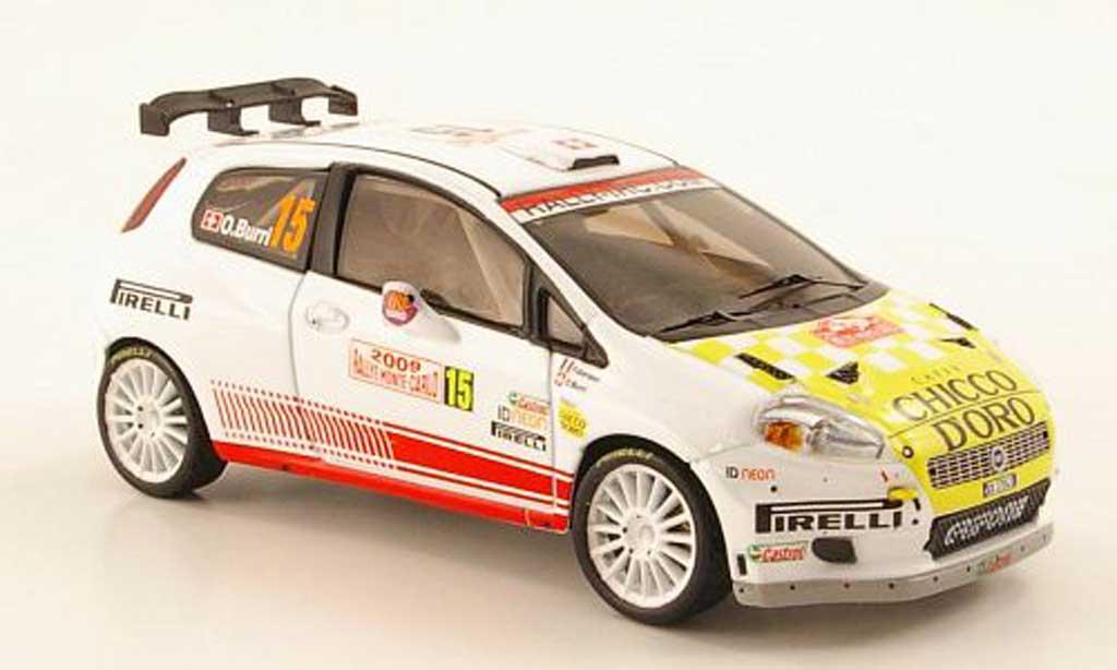 Fiat Grande Punto S2000 1/43 IXO No.15 Chicco D'Oro Rally Monte Carlo 2009 miniature