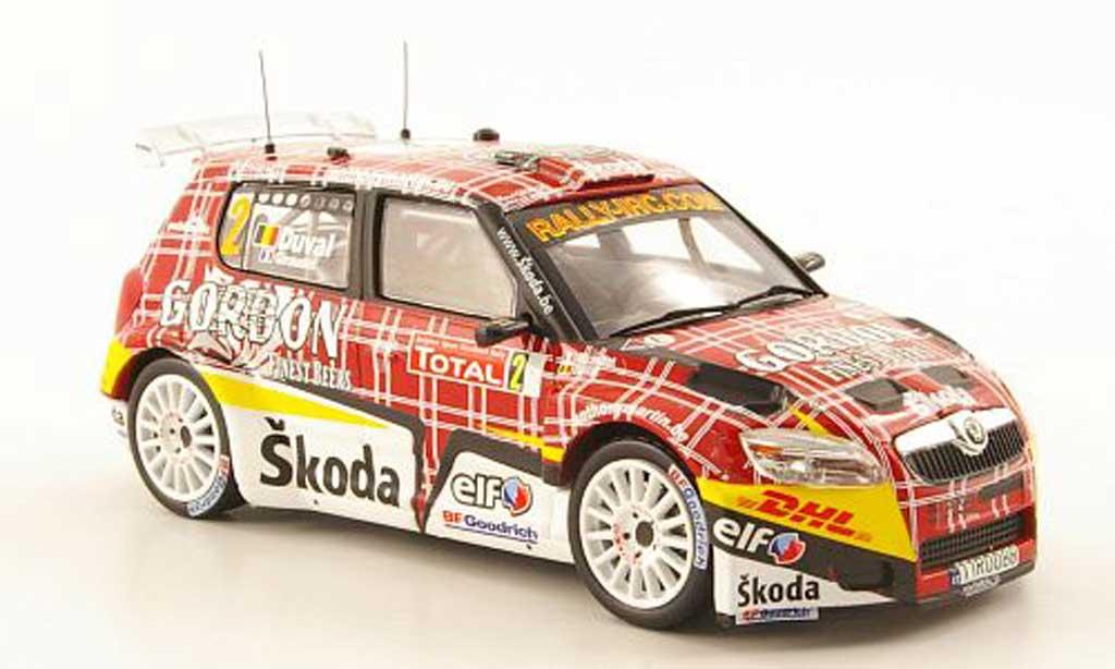 Skoda Fabia S2000 1/43 IXO No.2 Gordon IRC Rally Ypern 2009 miniature