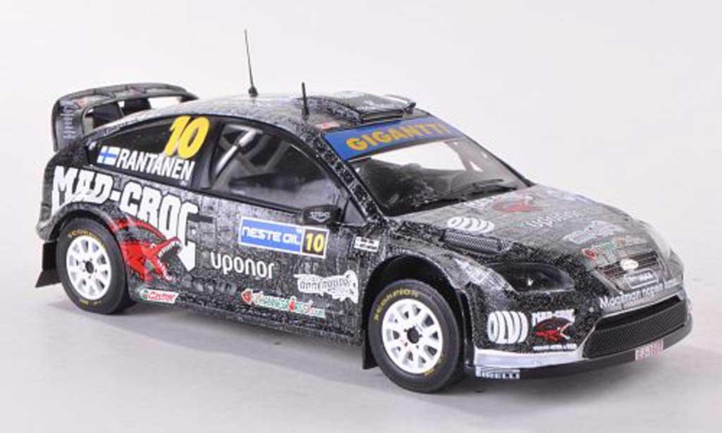Ford Focus RS WRC 1/43 IXO 08 No.10 Gigantii Rally Finnland 2009 M.Rantanen/M.Lukka miniature