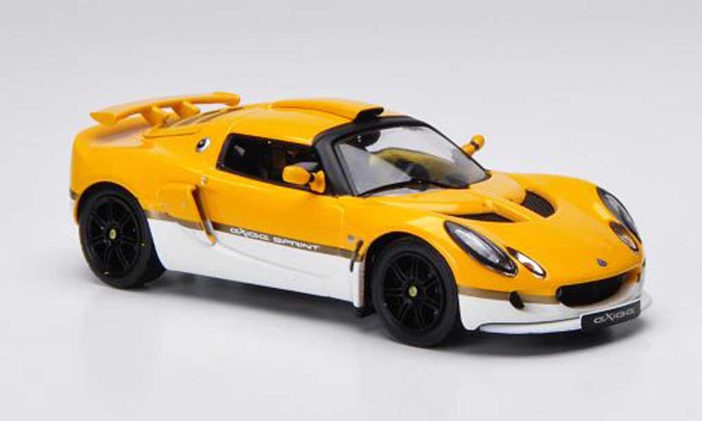 Lotus Exige 1/43 IXO Sprint jaune/blanche LHD 2006 miniature
