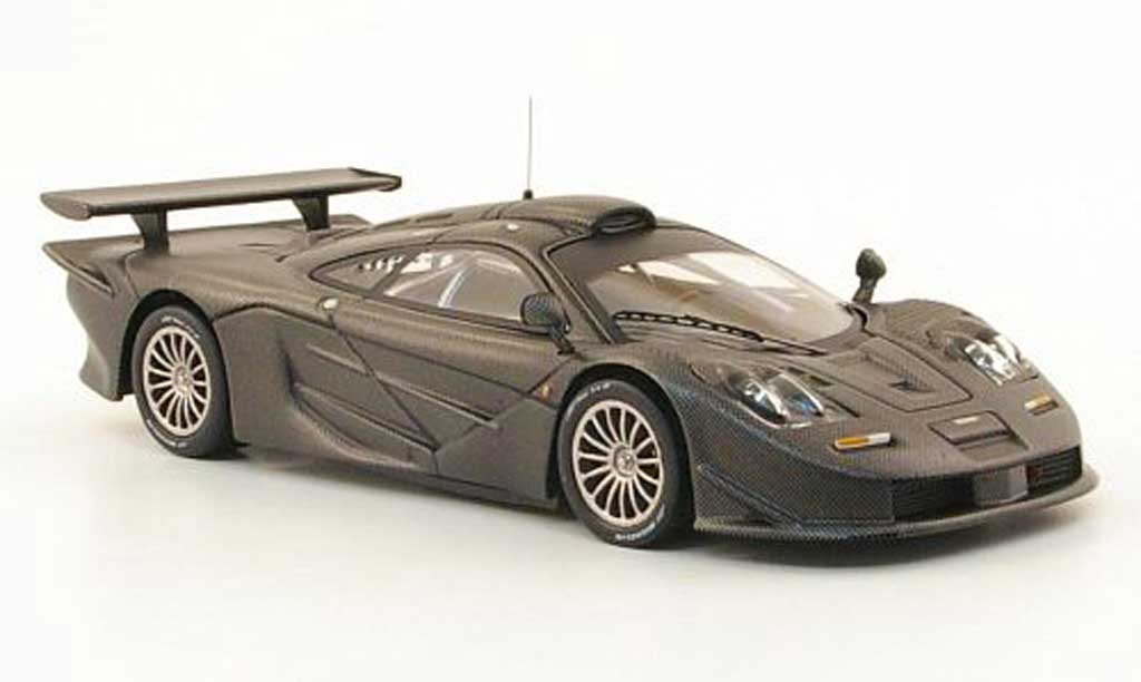 McLaren F1 1/43 IXO GTR Long Tail Carbonoptik 1996 miniature