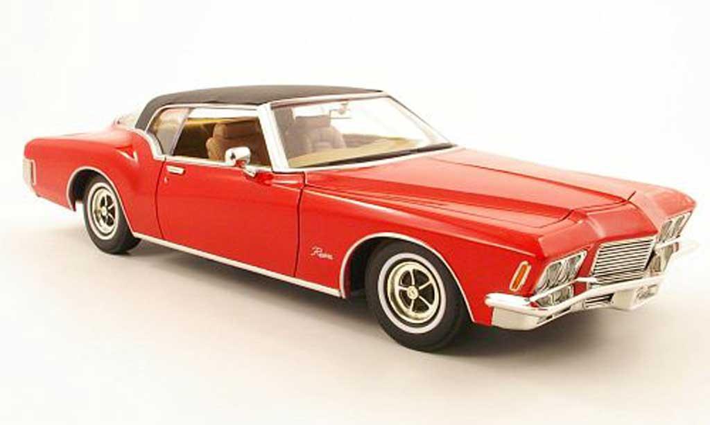 Buick Riviera 1/18 Yat Ming rouge/noire 1971 miniature