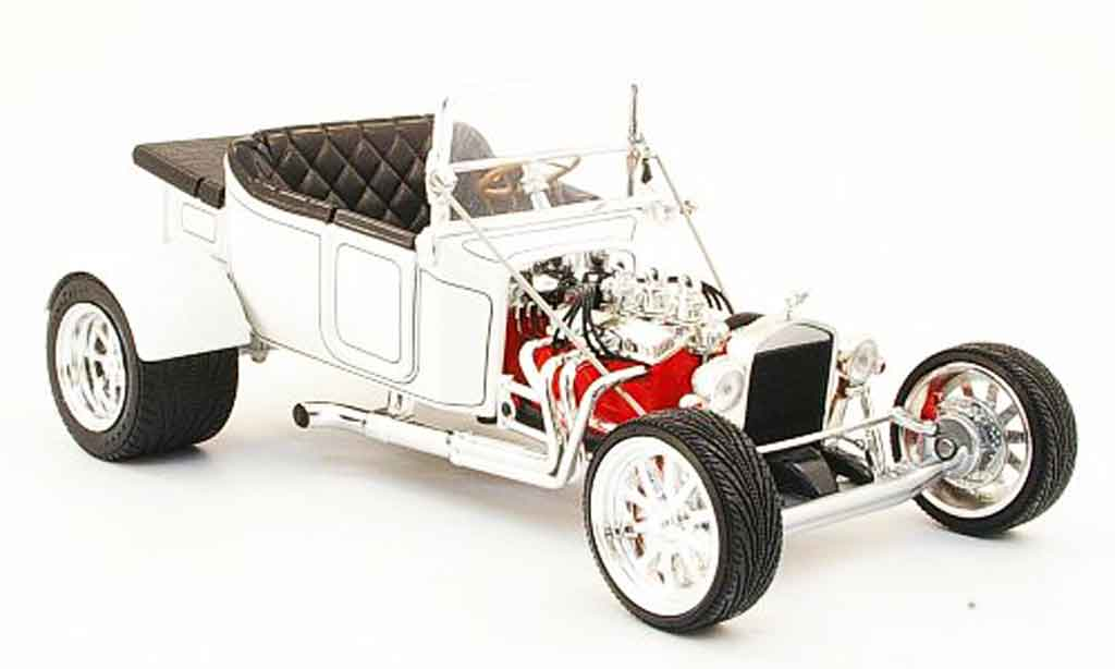 Ford Hot Rod 1/18 Yat Ming t-bucket blanche offen 1923 miniature