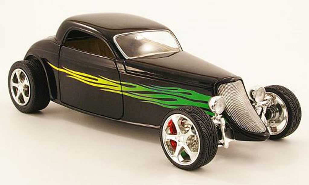 Ford 1933 1/18 Yat Ming Coupe nero mit Flammendekor modellino in miniatura