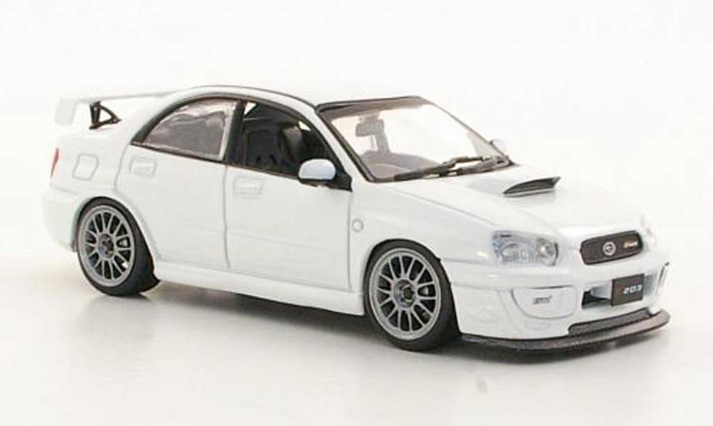 Subaru Impreza 1/43 J Collection S203 blanche RHD 2005 miniature