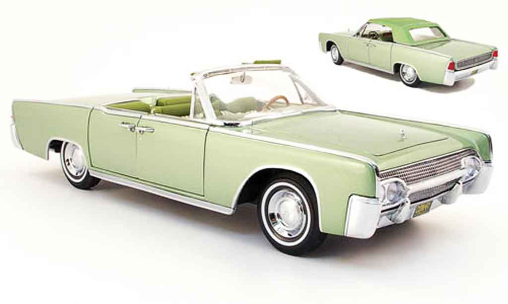Lincoln Continental 1961 1/18 Yat Ming convertible verte miniature