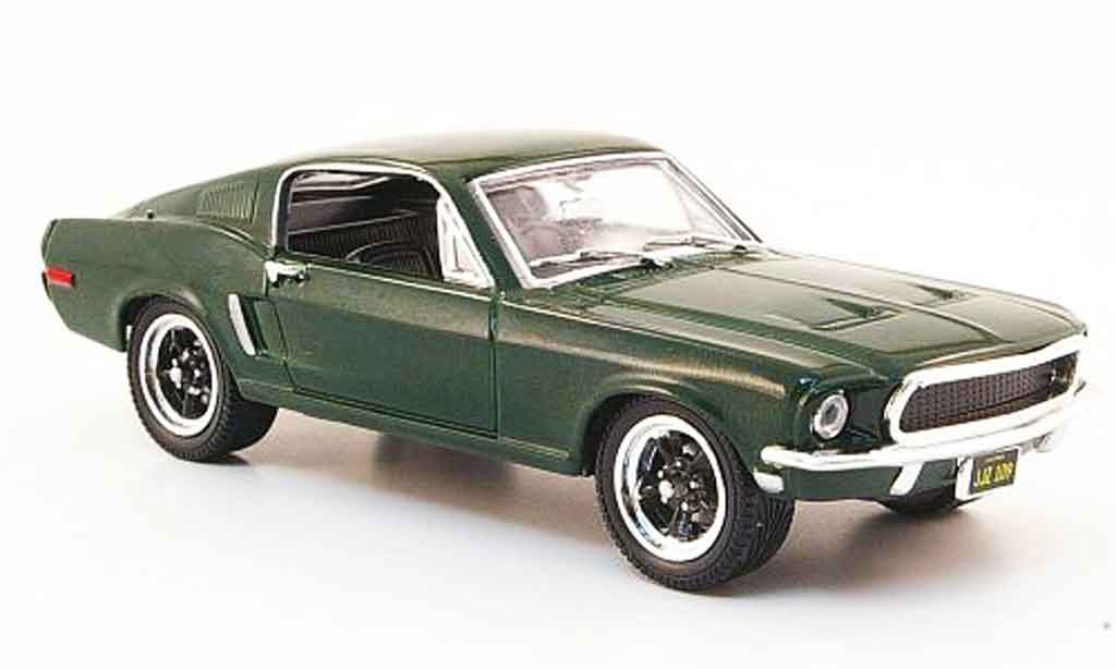 Ford Mustang 1968 1/43 Yat Ming GT Fastback Bullitt  green 1968 diecast