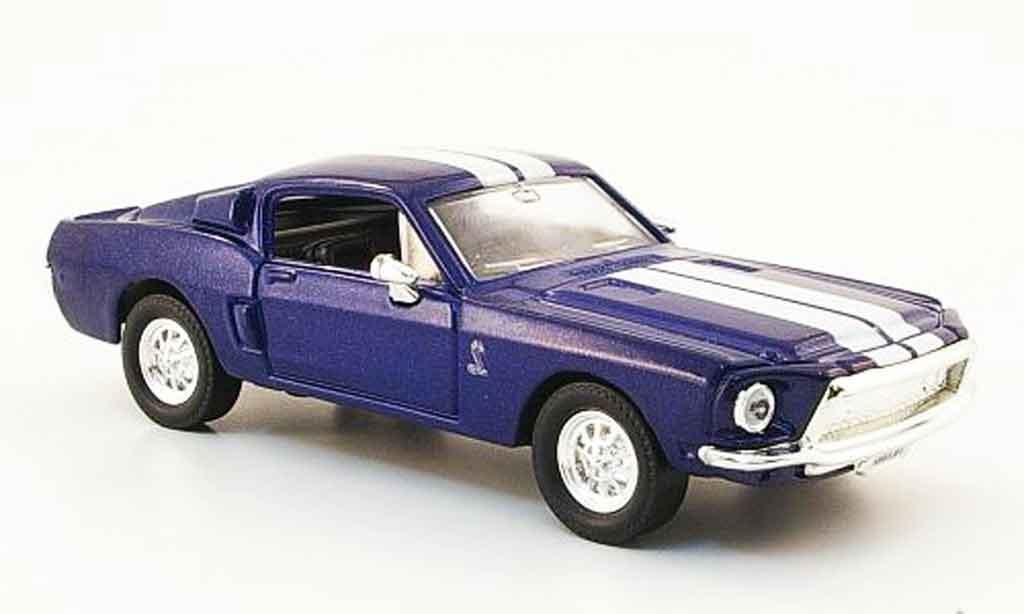 Shelby GT 500 1/43 Yat Ming KR bleu blanche miniature