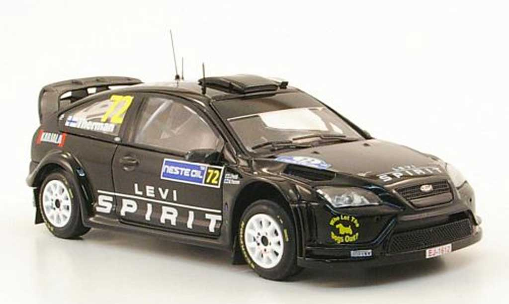 Ford Focus RS WRC 1/43 IXO 08 No.72 Levi Spirit Rally Finnland 2009 M.Therman / J.Perala