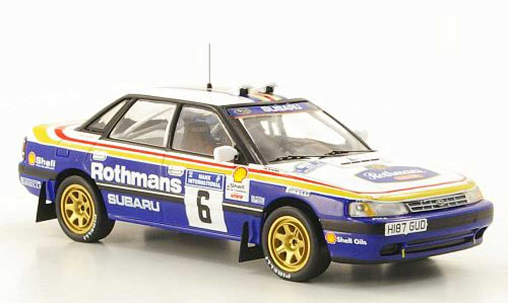 Subaru Legacy RS 1991 1/43 IXO No.6 rougehmans McRae/Ringer Manx Rally 1991 miniature