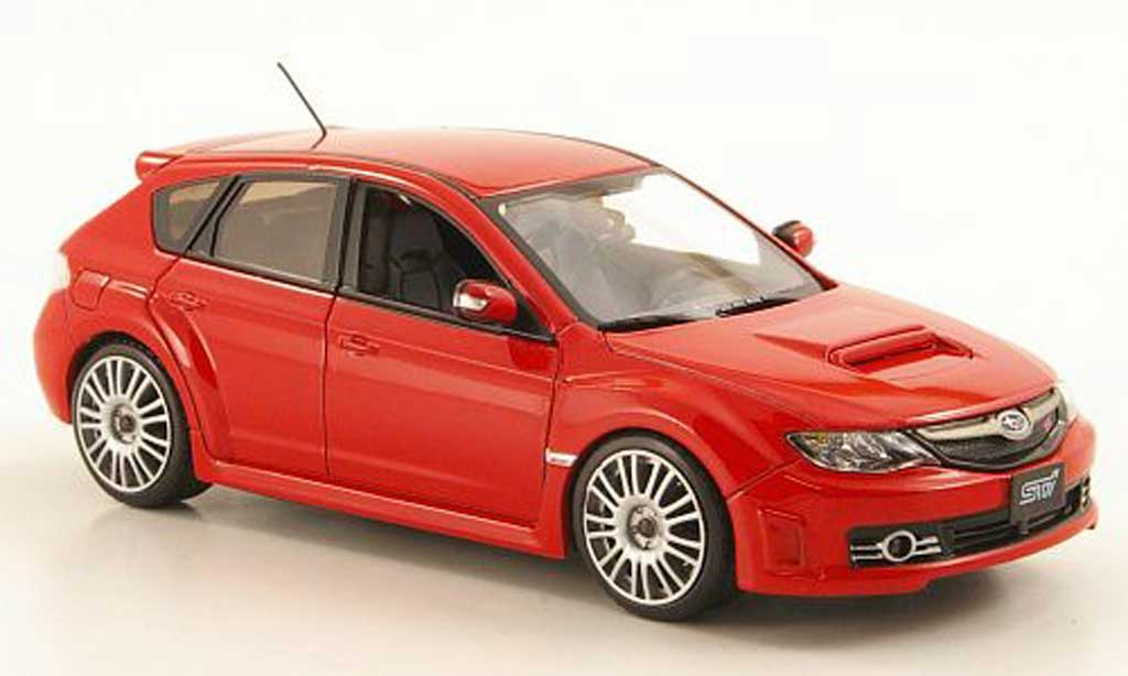 Subaru Impreza WRX 1/43 J Collection STI 2.5 rouge 2009 miniature