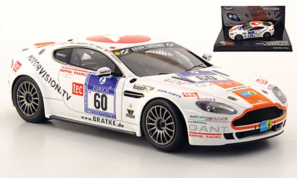 Aston Martin V8 1/43 Minichamps GT4 No.60 Team Bratke Motorsport 24h Nurburgring 2010 miniature