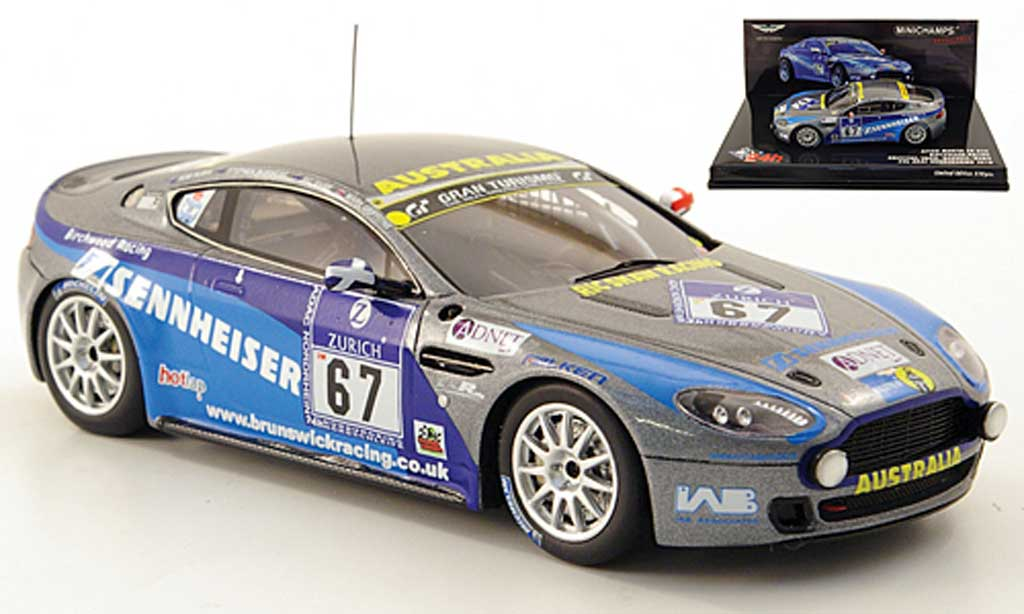 Aston Martin V8 1/43 Minichamps N24 No.67 Birchwood Racing 24h Nurburgring 2010 miniature