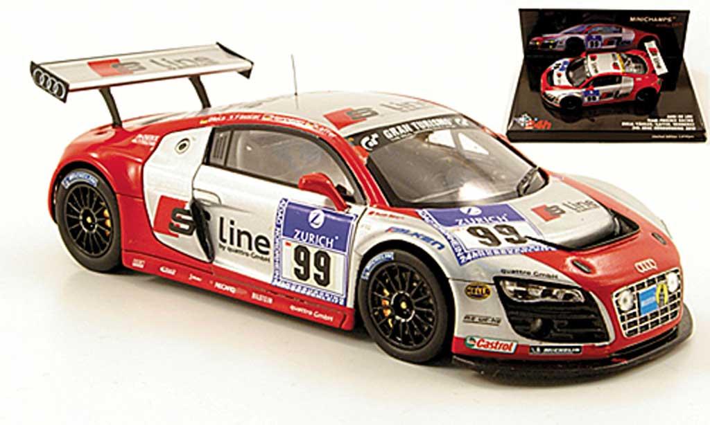 audi r8 lms miniature s line 24h nurburgring 2010 minichamps 1 43 voiture. Black Bedroom Furniture Sets. Home Design Ideas