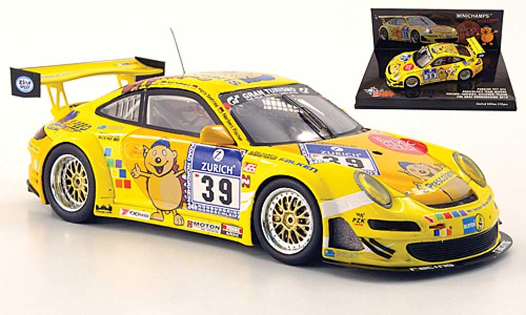 Porsche 997 GT3 CUP 1/43 Minichamps GT3 Cup 2010 No.39 Pescolaris 24h Nurburgring miniature