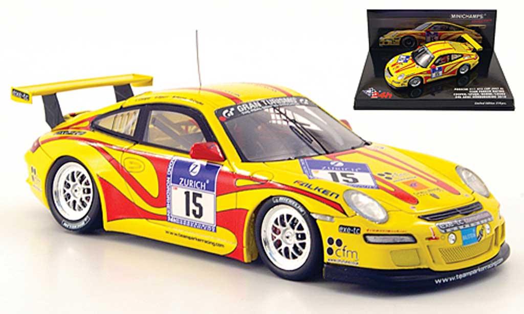 Porsche 997 GT3 CUP 1/43 Minichamps GT3 Cup 2010 (II) No.15 Parker Racing 24h Nurburgring miniature