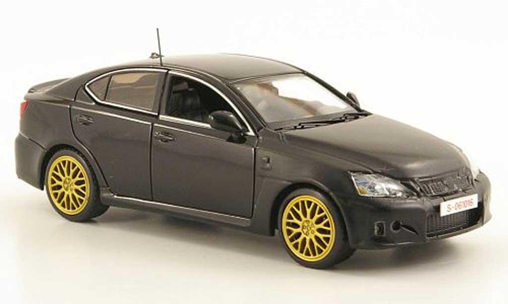 Lexus IS 1/43 Kyosho F noire/mattnoire LHD Testfahrzeug Nurburgring miniature