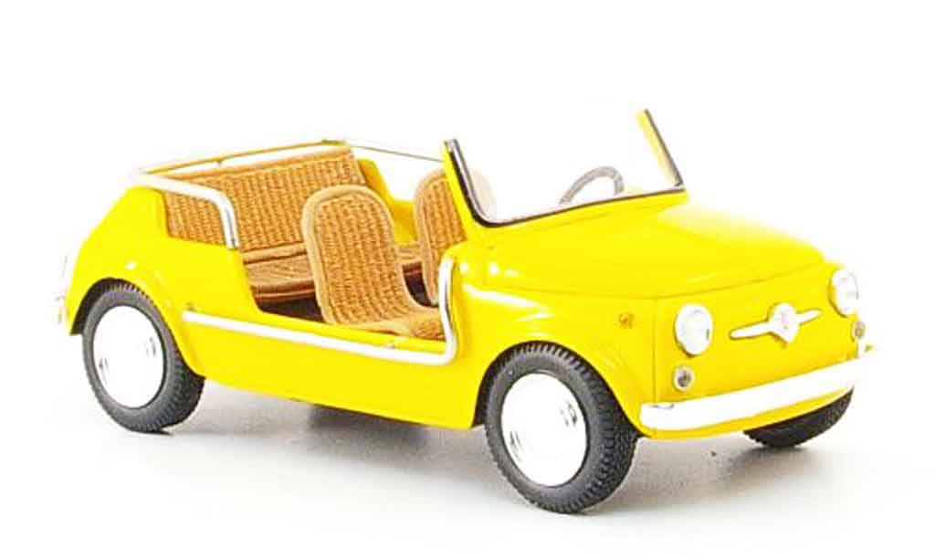 Fiat 500 1/43 Spark Jolly yellow 1961 diecast model cars