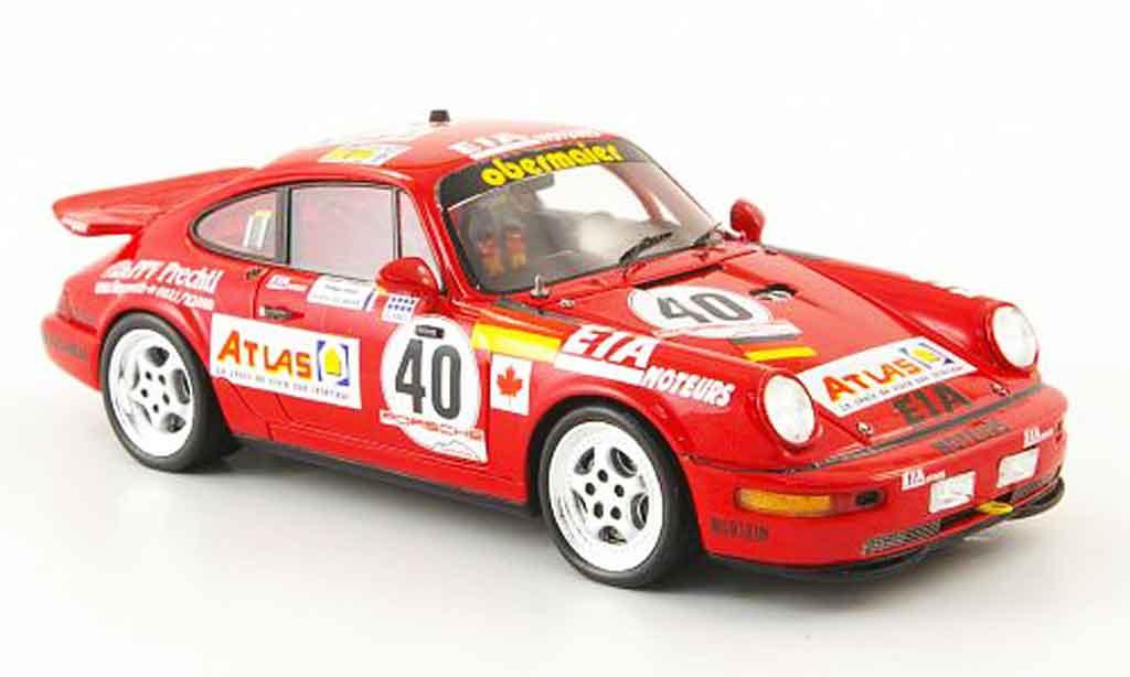Porsche 964 1/43 Spark Carrera 2 Cup No.40 Atlas 24h Le Mans 1993 miniature