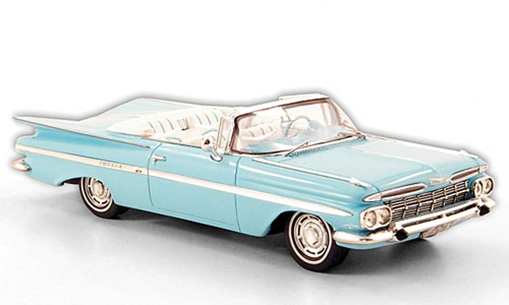 Chevrolet Impala 1959 1/43 Spark Convertible turquoise miniature