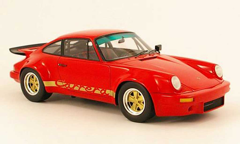 Porsche 930 RS 1/18 Spark carrera 3.0 rouge/or 1974 miniature