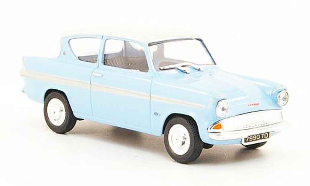 Ford Anglaia 1/43 Cararama 105E bleu blanche miniature
