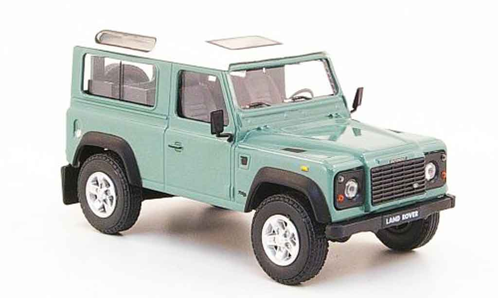 land rover defender green white cararama diecast model car. Black Bedroom Furniture Sets. Home Design Ideas