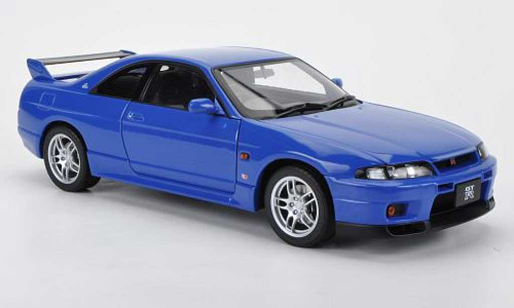 Nissan Skyline R33 1/18 Autoart GT-R V-Spec LM Limited bleu 1997 miniatura