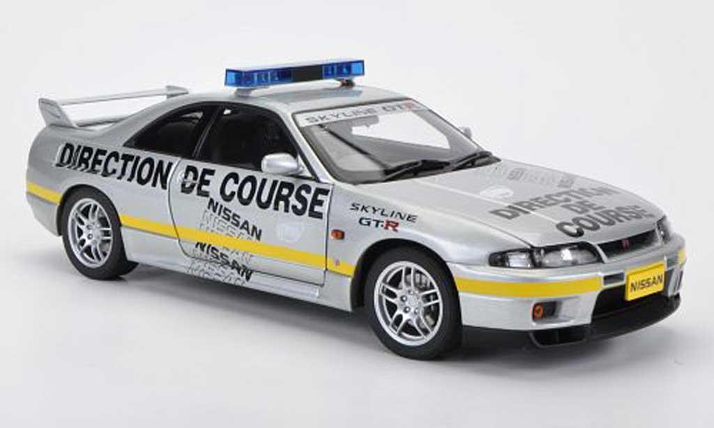 Nissan Skyline R33 1/18 Autoart GT-R Pace Car Le Mans 1997 miniatura