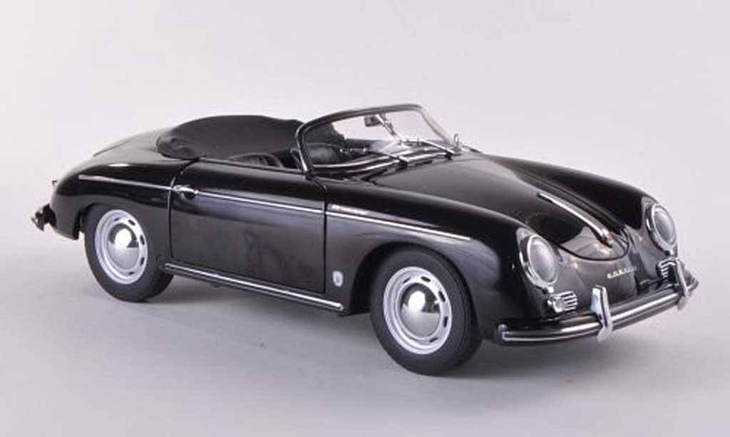 Porsche 356 1/18 Autoart 1957 A Speedster noire Europaversion miniature