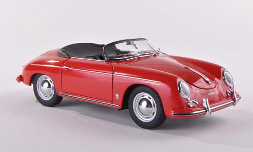 Porsche 356 1955 1/43 Autoart Speedster rouge Version europeenne miniature