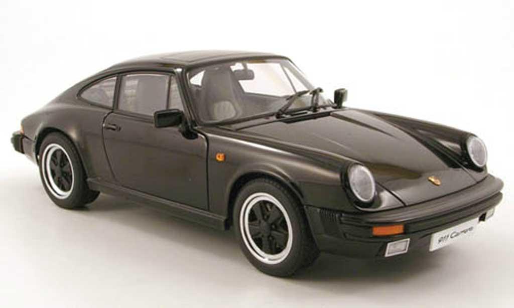 Porsche 930 3,2 1/18 Autoart 32 carrera noir 1988 miniature