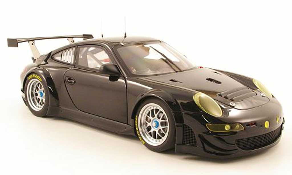 Porsche 997 GT3 RSR 1/18 Autoart 2009 black plain body diecast model cars