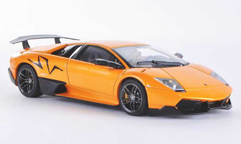 Lamborghini Murcielago LP670 1/43 Autoart 4 SV orange/carbon 2009 miniature