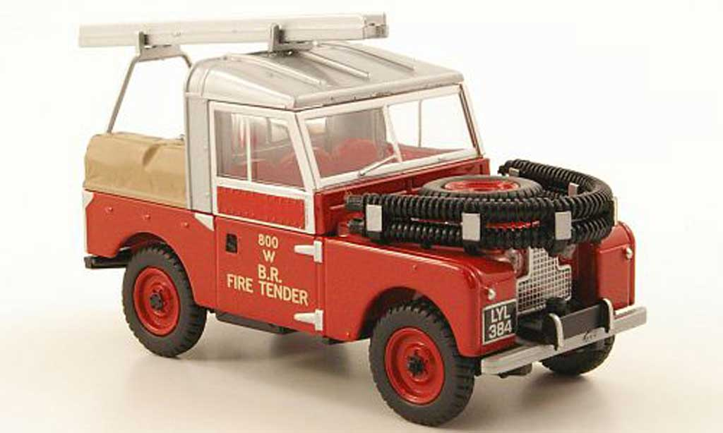 Land Rover 88 British Rail Fire Truck Oxford Diecast Model