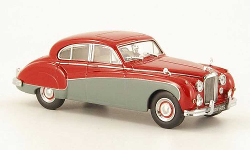 Jaguar MK 8 1/43 Oxford rouge/grise miniature