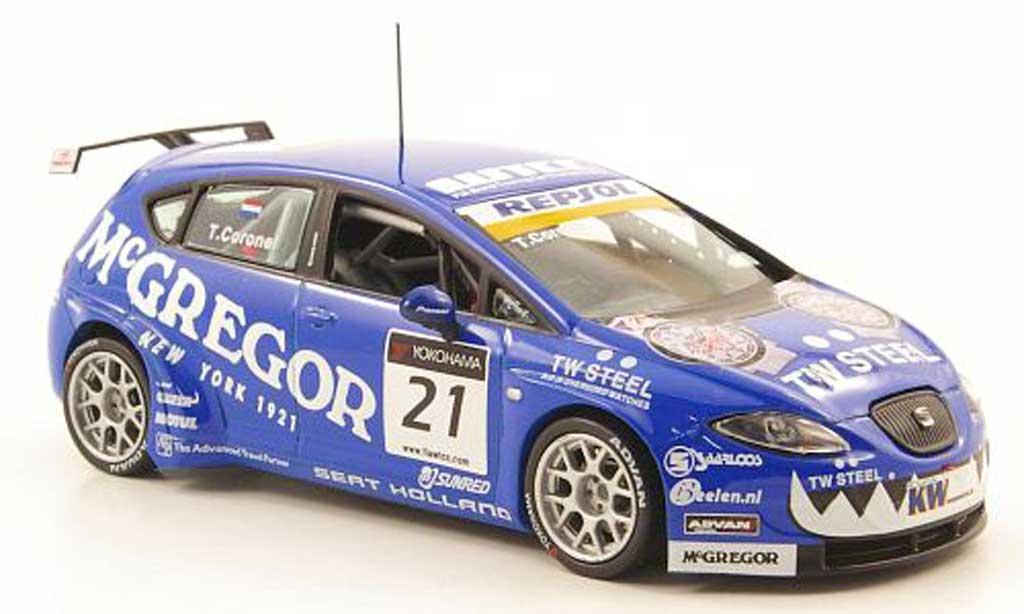 Seat Leon WTCC 1/43 Hachette No.21 Repsol - McGregor Okayama 2009 modellino in miniatura